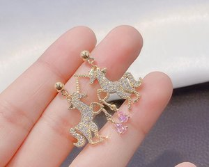 2020 the new type of earrings in the shape of interesting unicorns for children will be presented as lovely gifts 384