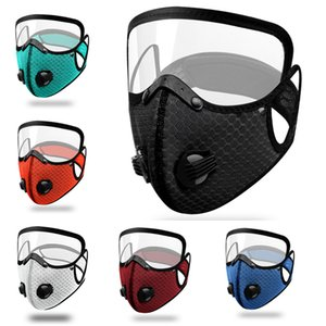 Free Shipping Warm riding masks breathing valve mask filter bicycle dust mask with protective lens waterproof fabric windproof mask Q0302
