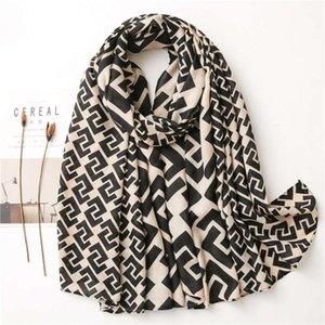 Yitao lenço cânhamo coreano lenço clássico geometria moda versátil xaile outono e inverno senhora quente