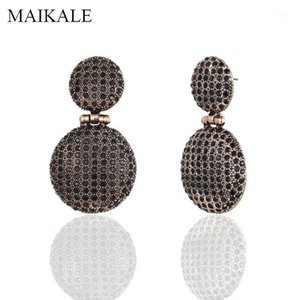 Dangle & Chandelier MAIKALE Vintage Big Round Zinc Alloy Occident Earrings Hanging Rhinestone Drop Earring For Women Jewelry Classic Gifts1