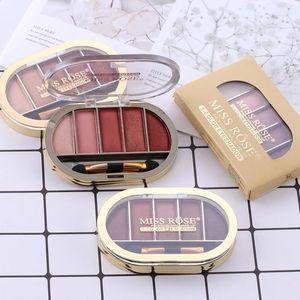 5 Colors Matte Pearlescent Eye Shadow Palette Waterproof Brighten Natural Easy To Wear Long Lasting Makeup Eyeshadow TSLM1