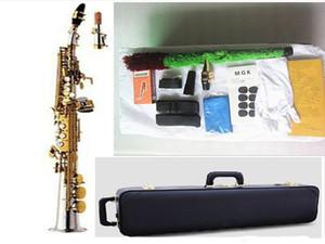 New Top YANAGISAWA S-9030 Soprano Saxophone Brass Silver Plated Gold Key B Flat Sax With Mouthpiece Case Free Shipping