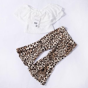 Kids Baby Girl Clothes Lace Top+Leopard Flares Pants Summer Outfits Set UK