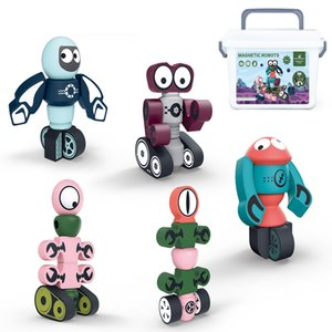 Kid toys Early Learning Magnetic Blocks Robot Transformation Series Creative Magnetic Puzzle toys 2021 hot sell gift of the child