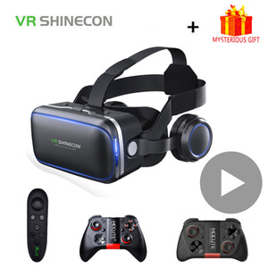 Shinecon 6.0 Casque VR Virtual Reality Glasses Goggles Headset Helmet For Smartphone Smart Phone Viar Binoculars Video Game LJ200919