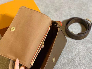 Luxurys Designer Baguette Chic Style Super Star gleich Model Alte Blume Druckbuchstaben One Umhängetaschen mit Geschenk des breiten Schultergurtes