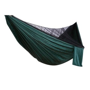 Easy Set Up Mosquito Net Hammock 270X140cm with Wind Rope Nails Hamac Hamaca Portable for Camping Travel Yard