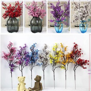 Artificial Cherry Blossom DIY Starry Wedding Decoration Home Bouquet Branch Fake Flower Simulation Bouquet Bride Holding Gypsophila OWD4567