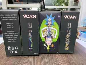 Popular selling vcan battery display box package 650mah 1100mah 510 thrtead vape cartridge vcan flow vcan double
