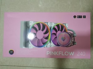 PINKFLOW 240 CPU Water Cooler 5V Addressable RGB AIO Cooler 240mm CPU Liquid 2X120mm RGB Fan, Intel 115X 2066,