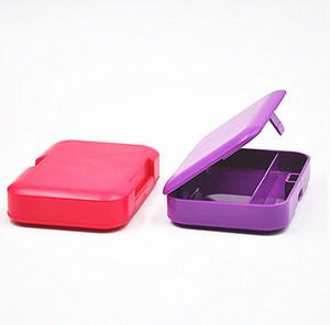 Пластиковый прямоугольник табачный ящик для хранения сигареты для прокатки бумаги курение трубы держатель красивые цвета доступные PPF4200