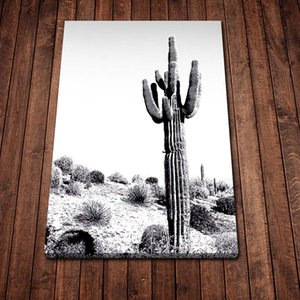 Cactus Black Poster Canvas Art Posters and Prints Kitchen Theme Canvas Paintings on The Wall Art Pictures Décor