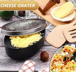 Stainless Steel Multi-functional Cheese Grater Double Flaking Chocolate Grater Oval Box Wiper Radish Ginger Grater Kitchen Tools HA1501