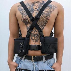 FashionTactical Harness Chest Rig Bag Unisex Hip Hop Oxford Two Pockets Fanny Pack Tactical Alyx Kanye Functional Vest Bag