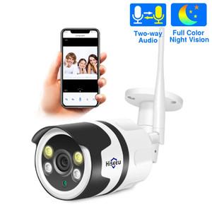 Hiseeu wifi في الهواء الطلق كاميرا IP 1080P 720P للماء 2.0MP اللاسلكية CCTV الأمن كاميرا معدنية ثنائية الاتجاه الصوت p2p رصاصة onvif