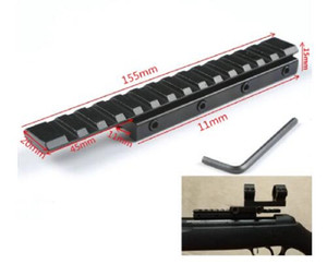 Dovetail Extend Weaver Scope Mount Picatinny Rail Extension Adapter 11mm to 20mm Converter Tactical Bases Rifle Airsoft