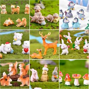 Decorativos Objetos Figurines Fada-Jardim-Suprimentos Filhote de Filhote Squirrel Decoração Acessórios Miniaturas Animal Figurine Artesanato Presente Mini Flamin