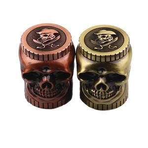 40MM cool Shaped Grinder Metal Tobacco Grinder Smoking Herb 3 Layers Ghost Head Grinders 2 Colors