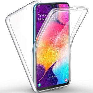 360 Full Body Clear TPU PC Case For Samsung J3 J7 J8 A7 A9 A2 Core A10E A20E M10 M20 M30 A10 A20 A30 A40 A50 A60 A70 A80 A10S A20S