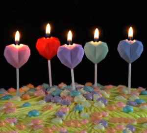 Алмазная любовь день рождения свеча творческий сердечный сердечный бездымный пирожный свеча для дня рождения банкетное предложение о браке брак свадьба sn3536
