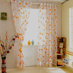 2Pcs 100x250cm Elegant High Quality Sunflower Design Half Shading Window Curtain Divider with Beads Door Curtains Decoration