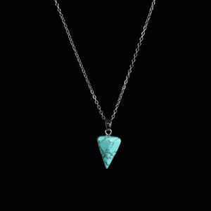 Factory Natural Cristal Pendentif Gemstone AquaMarine Collier Aquamarine Cadeau Diamond Cadeau De Pierre De Pierre Cadeaux Personnalisé