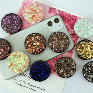 Glitter Bling Cell Phone Holder Glitter sparklinga airbag Mount Grip Stand Sockets Tablets holders For iphone XR XS Samsung