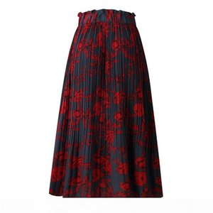 Floral Dot Skirt Midi Skirt Casual Skirts Printed Fashion Women Dress Clothes Summer Dresses Fashion Drop Ship Wholesale