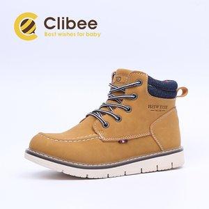 CLIBEE Oğul Ayak Bileği Martin Çizmeler Çocuk Klasik Sonbahar Kış Açık Çizmeler Çocuklar Su Geçirmez Konfor İş Çizmeler Ile Fermuar Y1116
