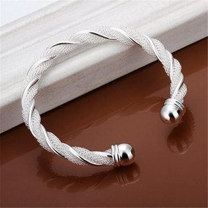 Christmas Gift Silver Color Jewelry Beautiful Female Wire Mesh Bangle Bracelet Jewelry For Women Men B020 H jllTlZ