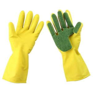1pairs Thickened Scrubbing Washing Long Sleeve Anti Slip Scouring Bathroom Latex Kitchen Dishwashing Household Cleaning Gloves