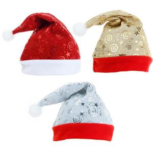 Santa Pompo Beanie Hat Winter Christmas Christmas de alto grado Peluche Adulto Hat engrosamiento suave peluche sombrero navideño adorno decoración GWB3498