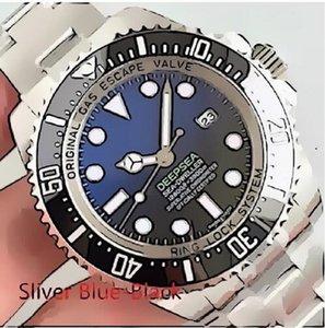 Роскошные мужские часы Полная нержавеющая сталь Автоматические механические часы Водонепроницаемые супер светлые сапфировые зеркальные наручные часы