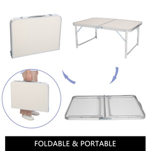 3Ft 36Inch Portable Multipurpose Folding Table White for Camping Picnic Party,Indoor Home Use