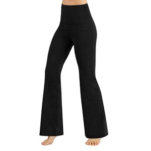 Yoga Pants Casual Wide Leg Pants Black Yoga High Waisted Tummy Control Workout Leggings Women'S Fitness