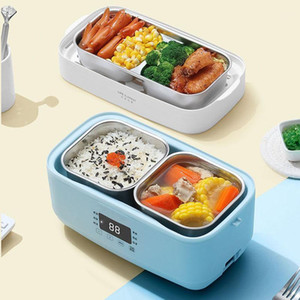 220V Electric Double-layer Lunch Box Stainless Steel Liner Rice Cooker Heating Timing Insulation Cooker 1.5L For Office Home1