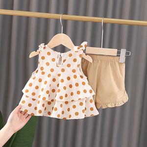 Roupas femininas 5 56 6 7 8 9 10 meses menina terno de bebê 0-1 verão