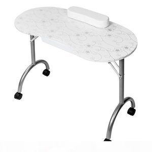 Professional Spa-salon Beauty Equipment Portable MDF Manicure Table with Arm Rest & Drawer Salon Spa Nail Equipment White Black