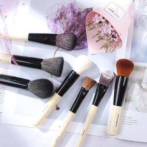 Luxury BB Makeup Brushes Set Natural Goat Horse Hair Powder Blush Foundation Blending Eyeshadow Bronzer Brush Cosmetic Tool