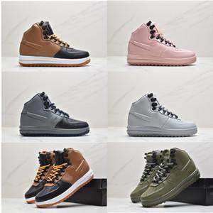 Su geçirmez Sneakers Kadın Erkek 1 Tasarımcı Yeni LF1 Moda Ay Duckboot Erkek Yüksekliği Üst Botlar Deri Hohussures Ayakkabı 36-47