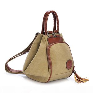 Fashion Canvas Backpack Women Leisure Back Pack Ladies Knapsack Casual Backbags for School Teenage Classic Bagpack With Tassel