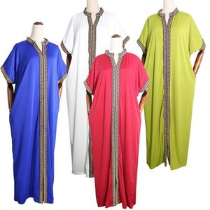 Ribbon Fashion colorfull European sty Plus Size Dashiki Loose Clothes Abaya Dubai Muslim Dress Robe Africa Dress for lady1