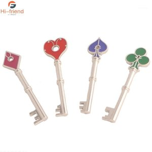 Résidents de jeu chaud Mauvais Keychain Ensemble Rpd carré Carte Heart Clé Cartes à jouer Key Metal Collection Hommes Collection Bijoux1