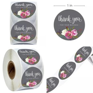Round Flower Thank You Stickers Self Adhesive Sticker Invitation Card Label Paster Envelope Sealing Decorative For Your Business 1 99jr D2