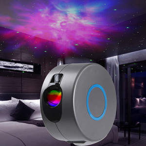 Star Projector Galaxy Starry Sky LED Projector Lamp Rotating Night Light Colorful Nebula Cloud Lamp Bedroom Beside Remote Control 137 N2