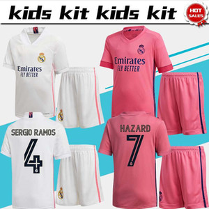 Kids Kit real madrid soccer jerseys #9 BENZEMA #5 ZIDANE 20 21 Child home away soccer shirts HAZARD KROOS MARCELO boys football uniforms