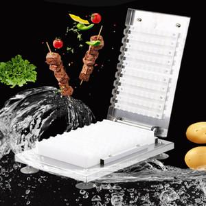 Beijamei Fabrika Manuel Et Şiş Makinesi BBQ Mutton Kebap Şiş Araçları Et Aşınma Dize Makinesi Paslanmaz Çelik
