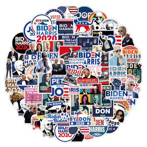 3 Sets=300PCS US Presidential Election Biden Graffiti Stickers Water Cup Helmet Notebook Scooter Refrigerator Stickers