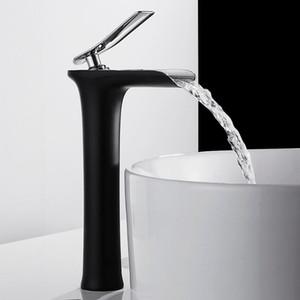 Wasserfall Waschbecken Wasserhahn Badezimmer Waschbecken Taps Counter Top Becken Mischbatterie THOW HOWET TREDER MONTIERTE SINGLE LOCH
