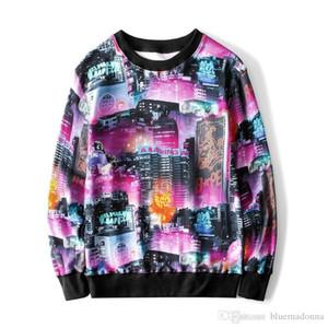 Popular A Bathing Ape Night scene Round Neck Sweater Sweatshirts Plush Hoodie